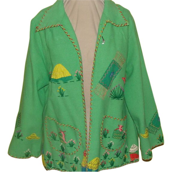 Ole! South of the Border Felt Appliques Jacket