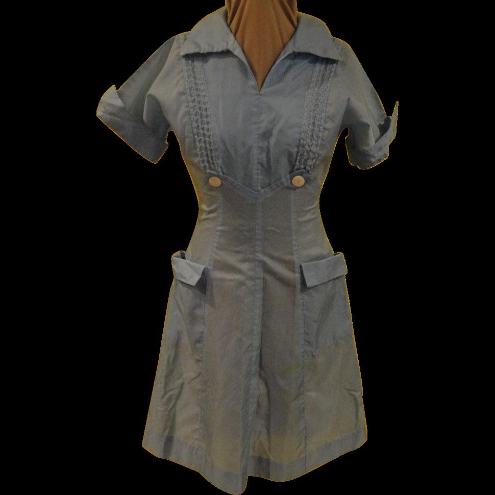 Too Cute Blue Waitress Uniform