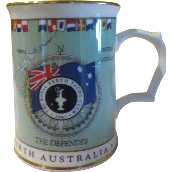 America's Cup 1987 Tankard Royal Worcester - b172