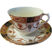 Flowers and Garland Colclough 6611 Tea cup and Saucer - b172