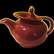 Hall Maroon windshield Tea Pot - b54
