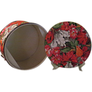 Flower Printed Vinyl Sewing Basket - b