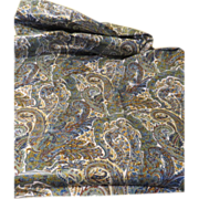 Polished Cotton Paisley Print Fabric/yard goods - L3