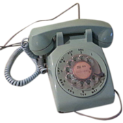 Bell Systems Western Electric Aqua/turquoise Rotary Dial Phone - b59