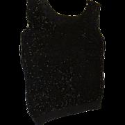 Glittery Glass Bead Black shell - b58