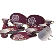 Partytime Seyei Luncheon Plate with Cup Snack Sets - bg