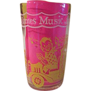"Welch's ""Here Comes Music for Doodyville Circus'' Swanky swig Glass - b58"