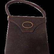 Palizzio Gold Accented Brown Handbag/purse - b60