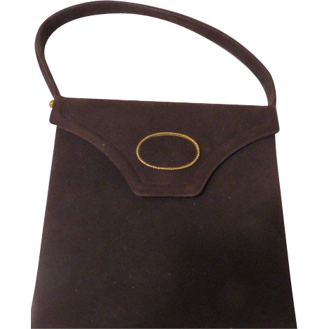 Palizzio Gold Accented Brown Handbag/purse - b60