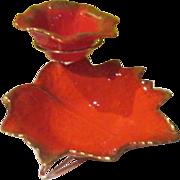Orange Leaves Chip and Dip Set - g