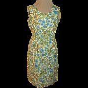 Bountiful Blue Flower Button Front Dress Shirtwaist