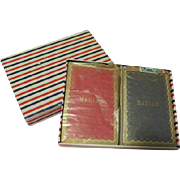 Marian, Madam Librarian Monogrammed Playing Cards in Box - b62