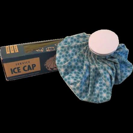 Icy Blue Snowflake Print Ice Cap Ice Bag - b61