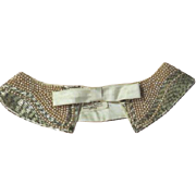 Hand Made ''Top Hit'' Faux Pearl beaded Collar - b62