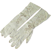 Cut away Flowers Washable leather Gloves - b62