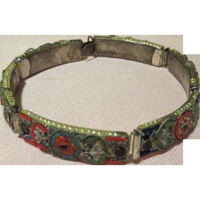 Extra Long Micro Mosaic Bracelet - Free shipping