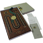 Limited Edition Nobel games Wood Cribbage Game in Box - b63/64