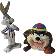 Bugs Blows the Whistle on Taz Salt and Pepper Shakers - b173