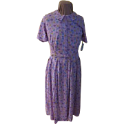 Perfectly Pleated Lavender Floral Shirtwaist