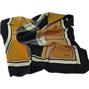 Brown and Black Bill Blass Scarf - b64