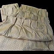 Mid-Century Modern Pinch Pleated Drapes - b65