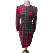 Red Tartan Plaid Skimmer Dress
