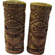 Tiki Totems from Orchids of Hawaii Salt and Pepper Shakers - b172