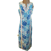 Ocean Blue Floral ''The Lilly'' Lilly Pulitzer Maxi Dress