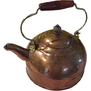 Copper Tea Kettle with Wood Handle