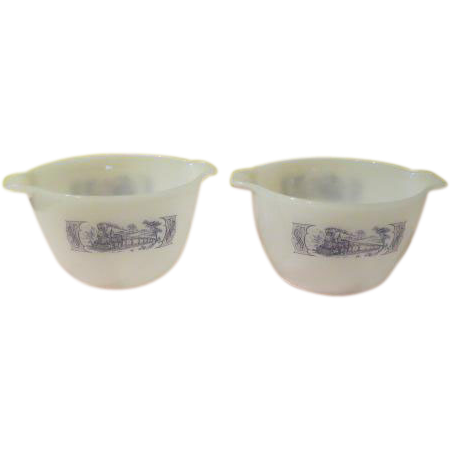 Fire King Currier and Ives Tab Bowl - g