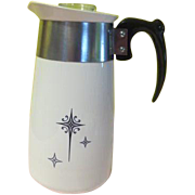 Corning Mid=century Starburst 8-cup stove top Percolator Coffee Pot - b176