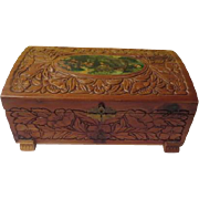 Carved Wood Box - B176