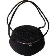 Round Snap to Close Double Strap Handbag/purse - b177
