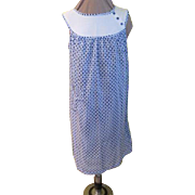 Dots, Dots and More dots Blue/white Shift Dress