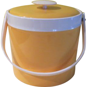Georges Briard Yellow Patent Ice Bucket - g