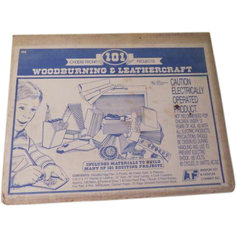 American Toy Woodburning and Leathercraft kit #166