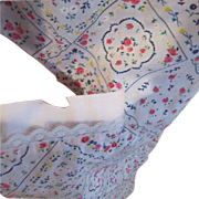 Banquet Size Cutwork Tablecloth and Napkins - b179