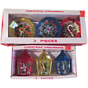 Jewelbrite Lantern and Decagon Diorama Christmas Tree Ornaments - b163 - Red Tag Sale Item