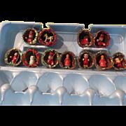 Christmas ornaments on the Half (Walnut) Shell #1 - b182