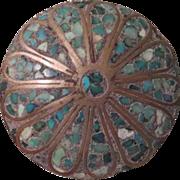 Inlaid Mosaic Dress/fur Clip  Free shipping