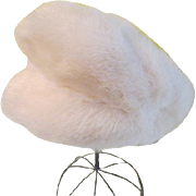 Jaunty Little white rabbit Fur Cap/hat - hb