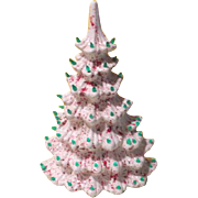 Wall Hugging Ceramic Space Saver Christmas Tree
