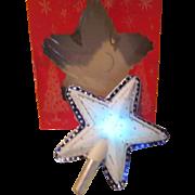 Midnight Blue Star Christmas Tree Top - b183
