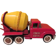 Structo Ready Mix Cement Mixer 1960's Toy Truck - b184