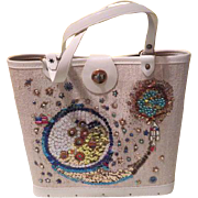 Sequined Snail 70's craft Handbag - b186