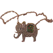 Good Luck Elephant Necklace - Free shipping