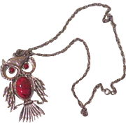 Give a hoot Silver Tone Owl Necklace - Free shipping