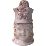 Royal China Majorette White with Gold Cookie Jar