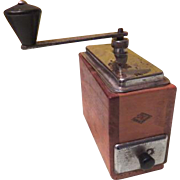 Wooden A. T. Brevetti Coffee Spice Grinder - b186