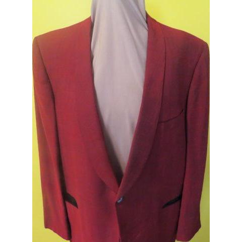 After 6 Rudofker Narrow lapel Maroon Sharkskin Tux Jacket